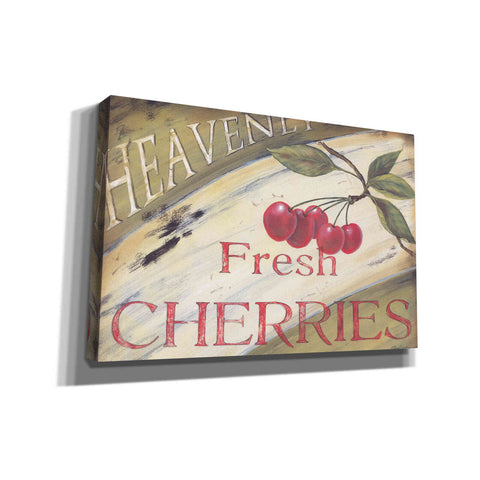 'Heavenly Cherries' by Pam Britton, Canvas Wall Art