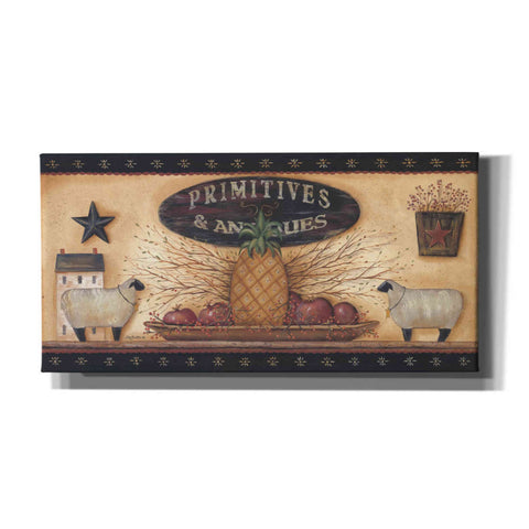 'Primitives & Antiques Shelf' by Pam Britton, Canvas Wall Art