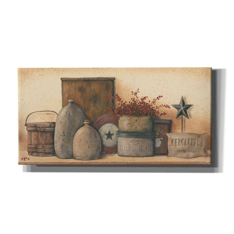 'Antique Treasures I' by Pam Britton, Canvas Wall Art