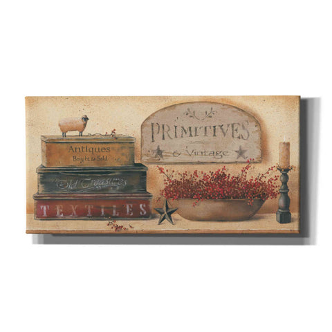 'Primitives & Vintage' by Pam Britton, Canvas Wall Art