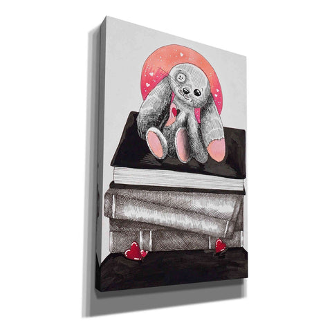'Bunny's Books ' by Avery Multer, Canvas Wall Art