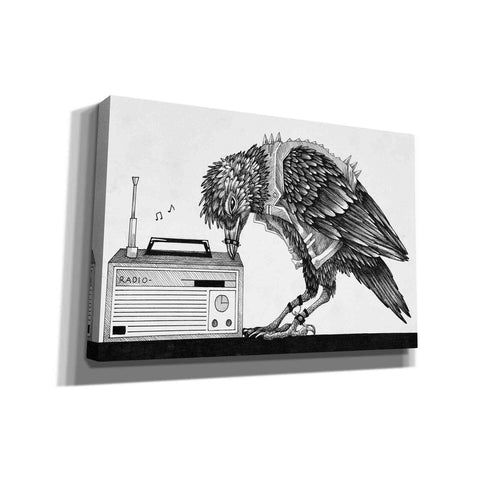 'Heavy Metal Crow' by Avery Multer, Canvas Wall Art