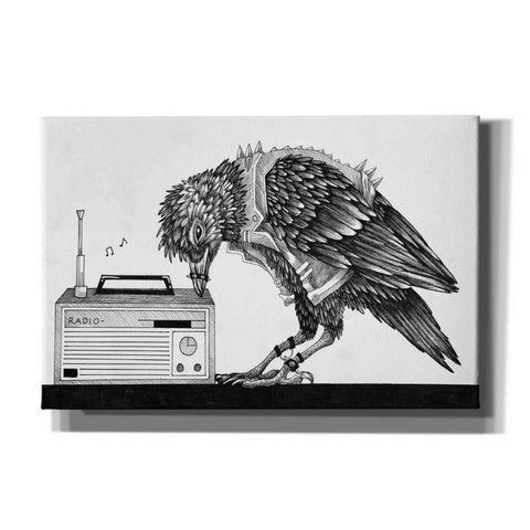 Image of 'Heavy Metal Crow' by Avery Multer, Canvas Wall Art