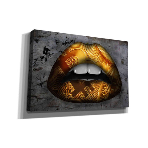 'Bitcoin Lipstick' by Canvas Wall Art