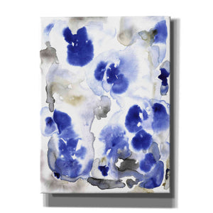 'Blue Pansies I' by Tim O'Toole, Canvas Wall Art