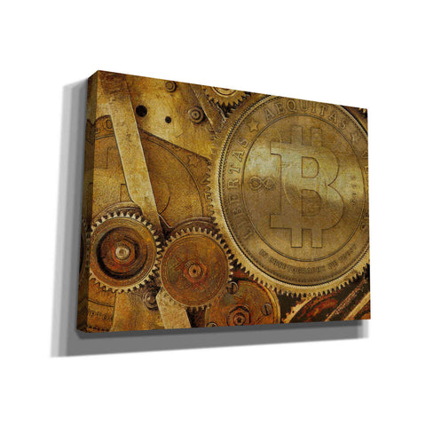 Image of 'Grunge Bitcoin One' by Steve Hunziker, Canvas Wall Art