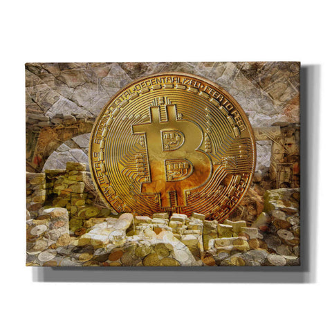 Image of 'Bitcoin New Age Four' by Steve Hunziker, Canvas Wall Art