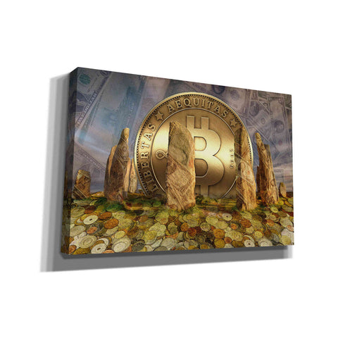 Image of 'Bitcoin New Age Three' by Steve Hunziker, Canvas Wall Art