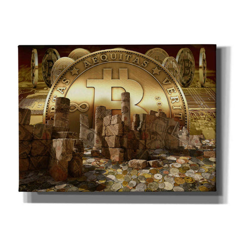 Image of 'Bitcoin New Age Seven' by Steve Hunziker, Canvas Wall Art