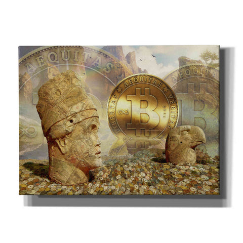 Image of 'Bitcoin New Age Eight' by Steve Hunziker, Canvas Wall Art