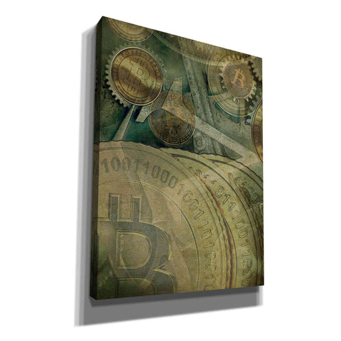 Image of 'Grunge Bitcoin Four' by Steve Hunziker, Canvas Wall Art
