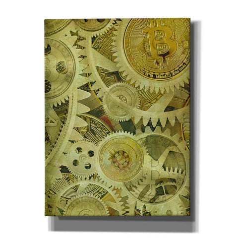 'Grunge Bitcoin Six' by Steve Hunziker, Canvas Wall Art