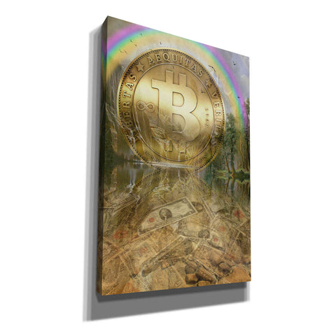 Image of 'Bitcoin New Age Six' by Steve Hunziker, Canvas Wall Art