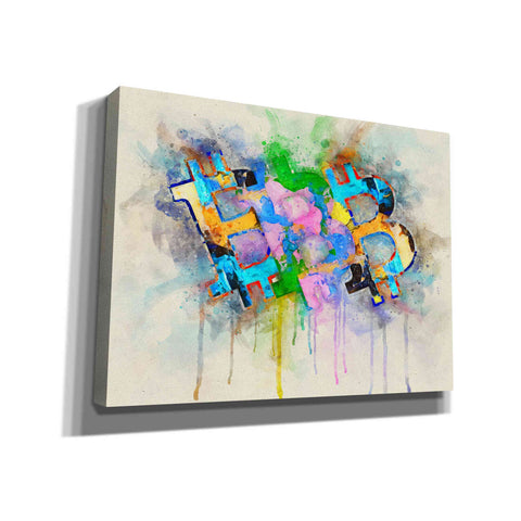 'Bitcoin Abstract' by Surma and Guillen, Canvas Wall Art