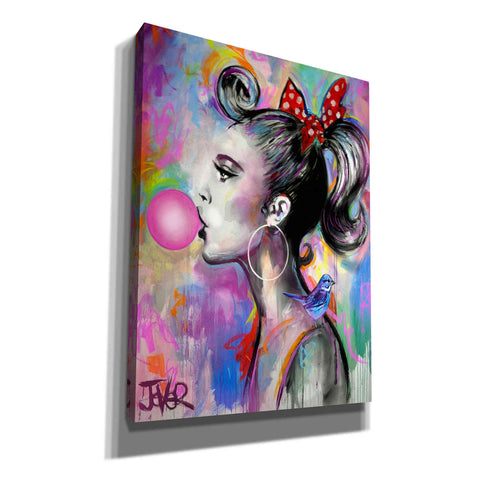 'Bubble Girl' by Loui Jover, Canvas Wall Art