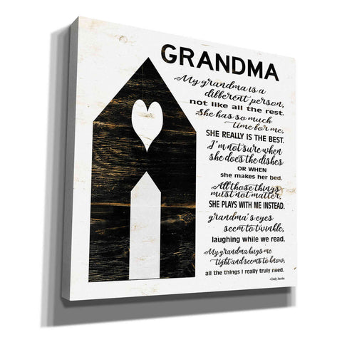 'My Grandma is the Best' by Cindy Jacobs, Canvas Wall Art