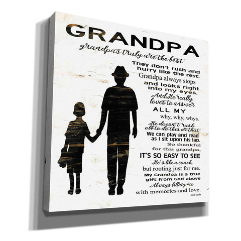 Image of 'My Grandpa is the Best' by Cindy Jacobs, Canvas Wall Art