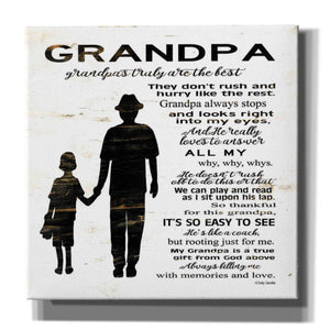 'My Grandpa is the Best' by Cindy Jacobs, Canvas Wall Art