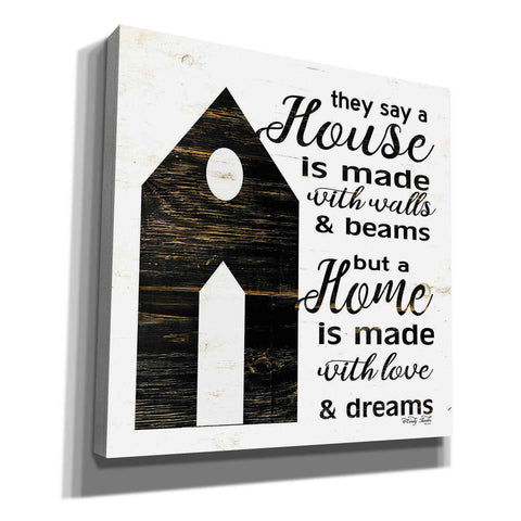 'A House…' by Cindy Jacobs, Canvas Wall Art