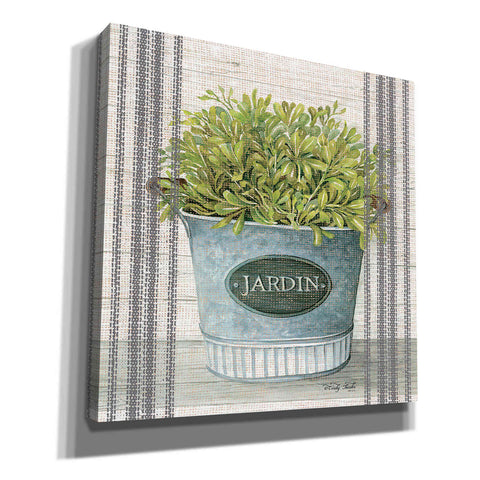 'Galvanized Jardin' by Cindy Jacobs, Canvas Wall Art
