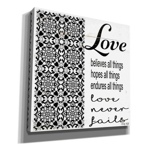 'Love Believes, Hopes, Endures' by Cindy Jacobs, Canvas Wall Art