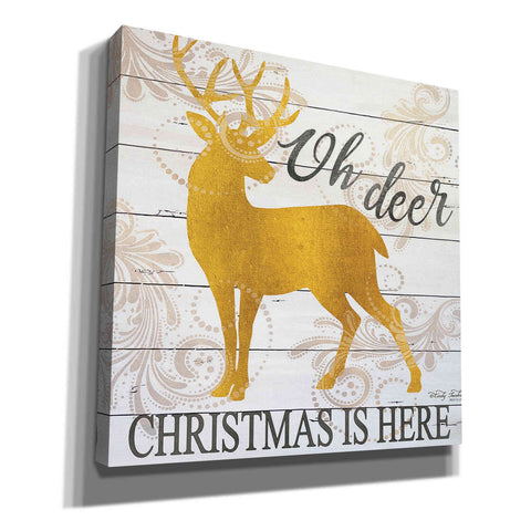 'Oh Deer Christmas is Here' by Cindy Jacobs, Canvas Wall Art