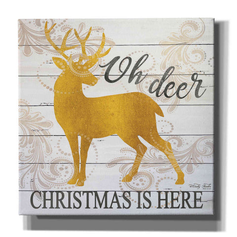 Image of 'Oh Deer Christmas is Here' by Cindy Jacobs, Canvas Wall Art