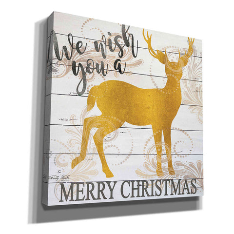 Image of 'We Wish You a Merry Christmas Deer' by Cindy Jacobs, Canvas Wall Art