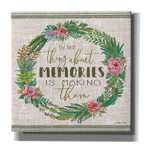 'Making Memories Succulent Wreath' by Cindy Jacobs, Canvas Wall Art