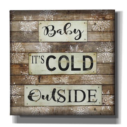 'Baby It's Cold Outside' by Cindy Jacobs, Canvas Wall Art
