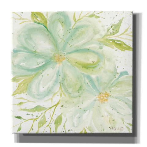 'Teal Big Blooms' by Cindy Jacobs, Canvas Wall Art