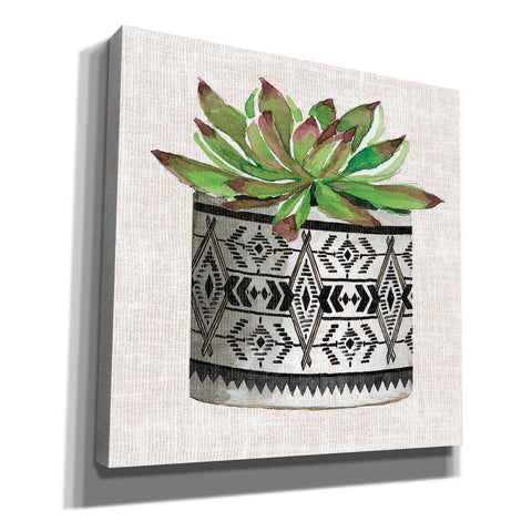Image of 'Cactus Mud Cloth Vase I' by Cindy Jacobs, Canvas Wall Art