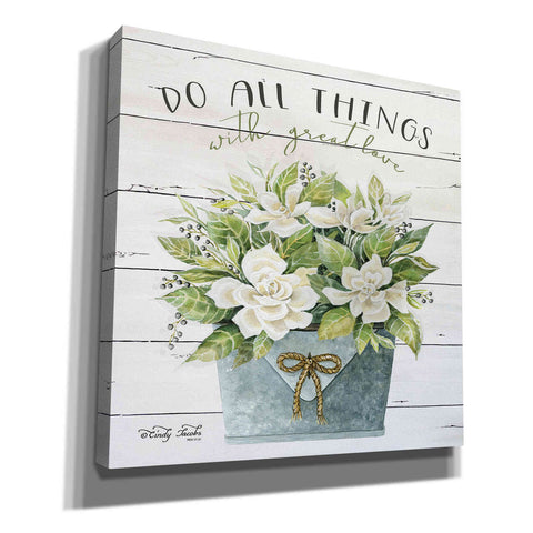 Image of 'Do All Things with Great Love' by Cindy Jacobs, Canvas Wall Art