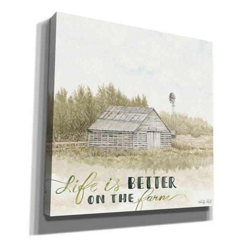 'Life is Better on the Farm' by Cindy Jacobs, Canvas Wall Art