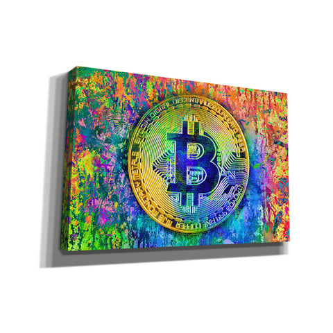 Image of 'Bitcoin Pollock,' by Portfolio, Canvas Wall Art