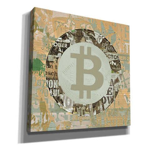 'Bitcoin Cryptocurrency 2-3' by Irena Orlov, Canvas Wall Art