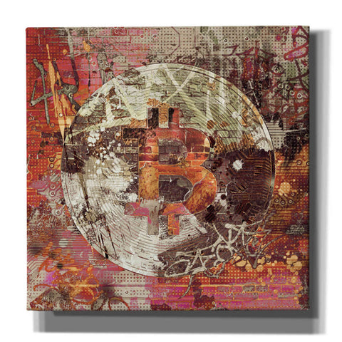 Image of 'Bitcoin Coin  Art 6' by Irena Orlov, Canvas Wall Art