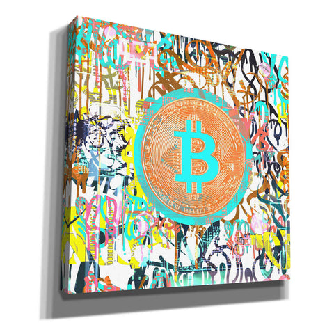 Image of 'Bitcoin Graffiti Art 3' by Irena Orlov, Canvas Wall Art
