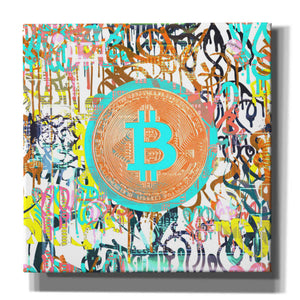 'Bitcoin Graffiti Art 3' by Irena Orlov, Canvas Wall Art