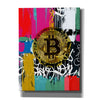 'Cryptocurrency Bitcoin Graffiti 2-1' by Irena Orlov, Canvas Wall Art