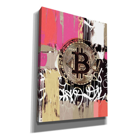 'Cryptocurrency Bitcoin Graffiti 2-8' by Irena Orlov, Canvas Wall Art