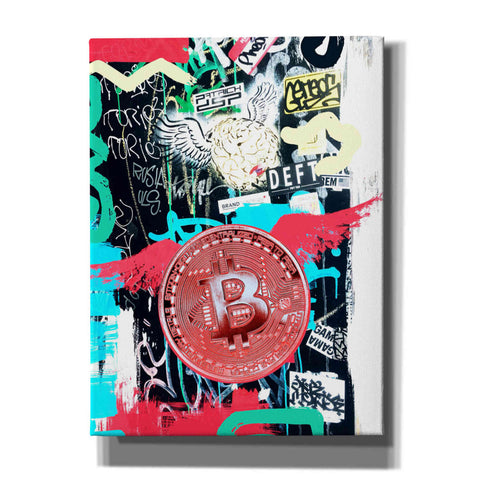 Image of 'Bitcoin Street Art 2' by Irena Orlov, Canvas Wall Art