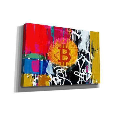 'Cryptocurrency Bitcoin Graffiti 1' by Irena Orlov, Canvas Wall Art