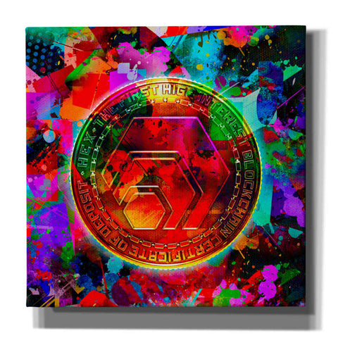 'HEX Crypto Color,' Canvas Wall Art
