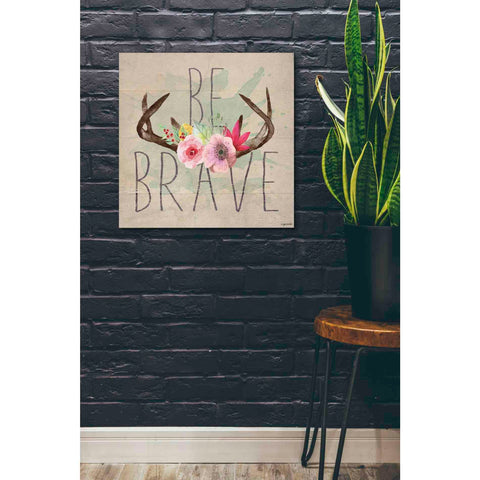 'Be Brave' by Kyra Brown, Canvas Wall Art,26 x 26