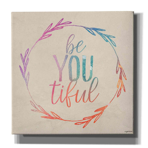 'BeYOUtiful' by Kyra Brown, Canvas Wall Art,Size 1 Square