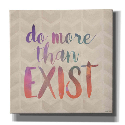 'Exist' by Kyra Brown, Canvas Wall Art,Size 1 Square