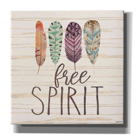 'Free Spirit' by Kyra Brown, Canvas Wall Art,Size 1 Square