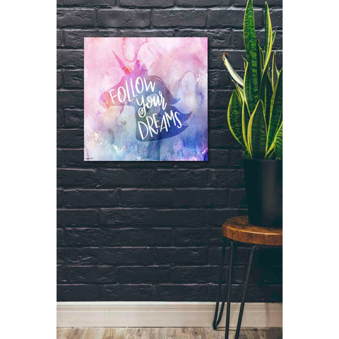 Image of 'Unicorn Dreams' by Kyra Brown, Canvas Wall Art,26 x 26