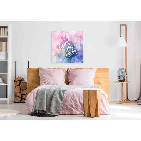 Image of 'Unicorn Dreams' by Kyra Brown, Canvas Wall Art,37 x 37
